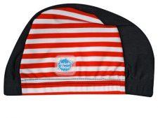 Swim Hat Navy with Red Stripe